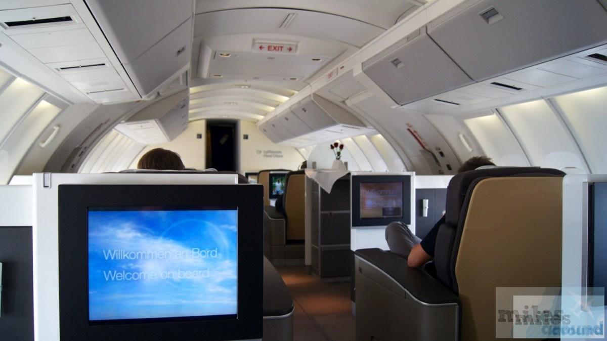Lufthansa First Class in der Boeing 747-400 nach Vancouver