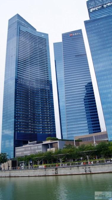 neue Hochhäuser in der Marina Bay