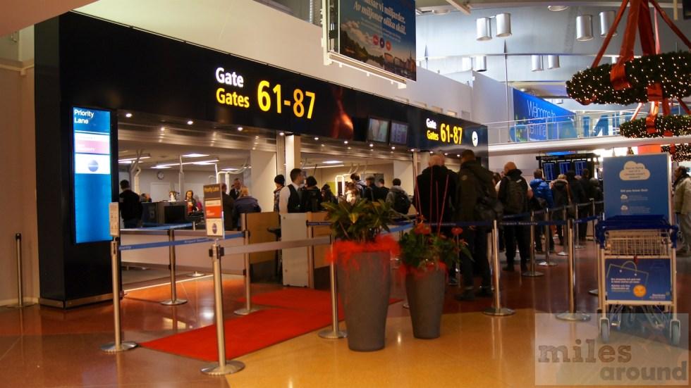 Personenkontrolle Flughafen Stockholm (Terminal 2)