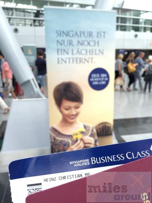 Erstflug Düsseldorf nach Singapur