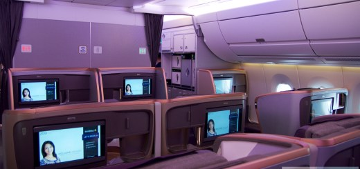 Hintere Business Class A350 Singapore Airlines (serie 19-22)