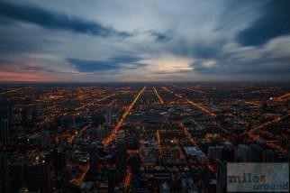 Blick vom John Hancock Center - Dämmerung