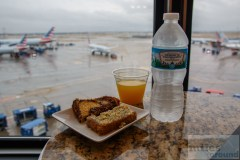 American Airlines Admirals Club Chicago Snacks