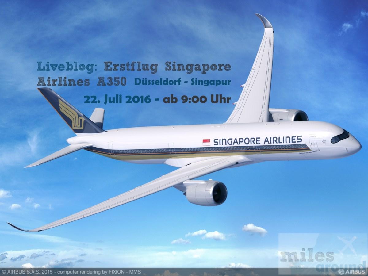 Live: Erstflug Singapore Airlines A350 Business Class