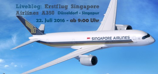 Liveblog Erstflug Airbus A350 (photo by Airbus for Singapore Airlines)