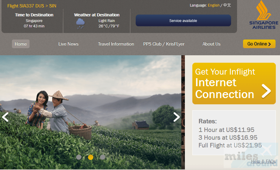 Singapore Airlines WiFi