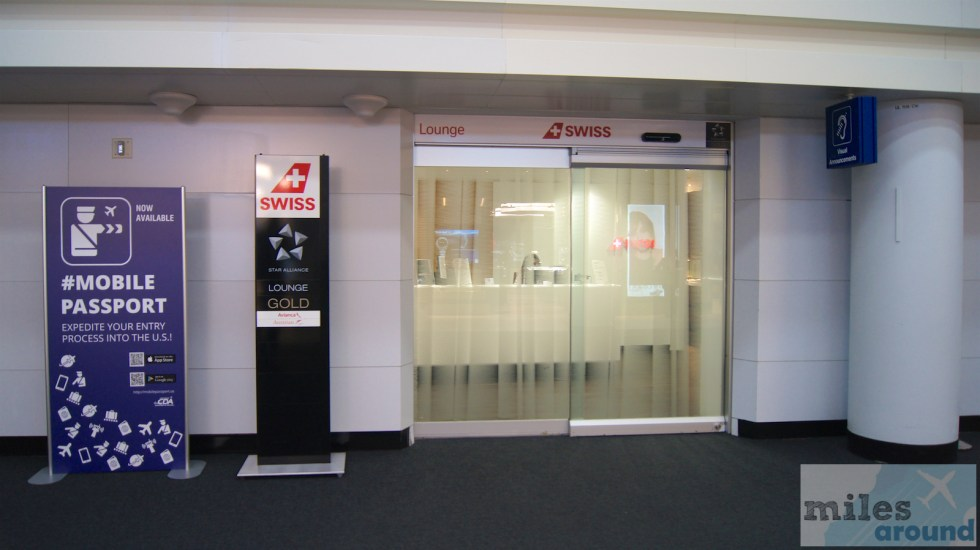 Entrance to the SWISS Lounge at Chicago (O'Hare)