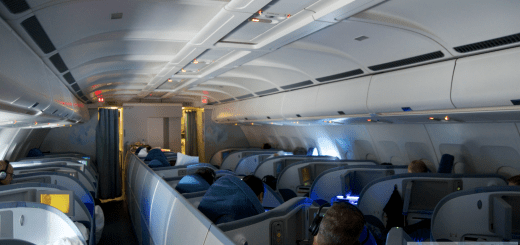 Air Canada Business Class im Airbus A330 - cabin