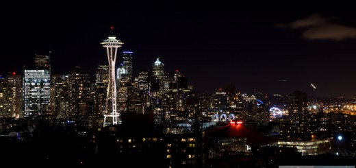 Seattle la nuit - vue de Kerry Parc