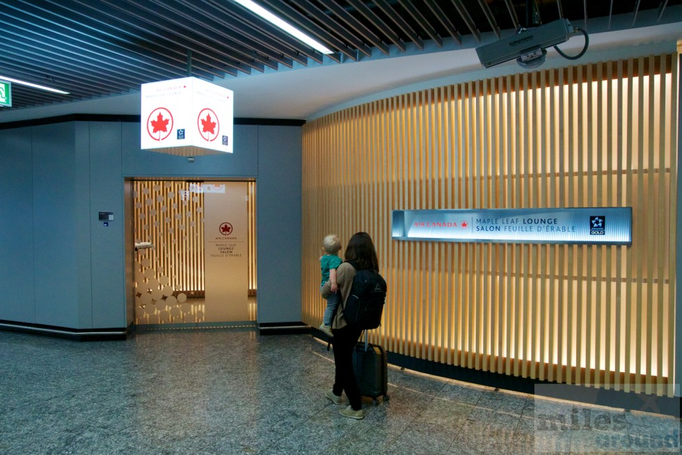Eingang zur Air Canada Maple Leaf Lounge Frankfurt