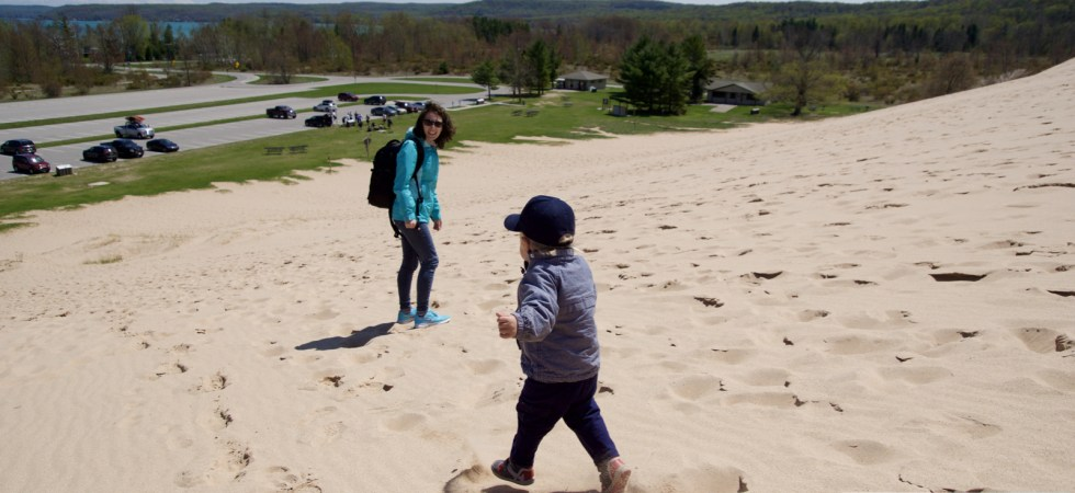 Perhe hauskaa Sleeping Bear Dunes