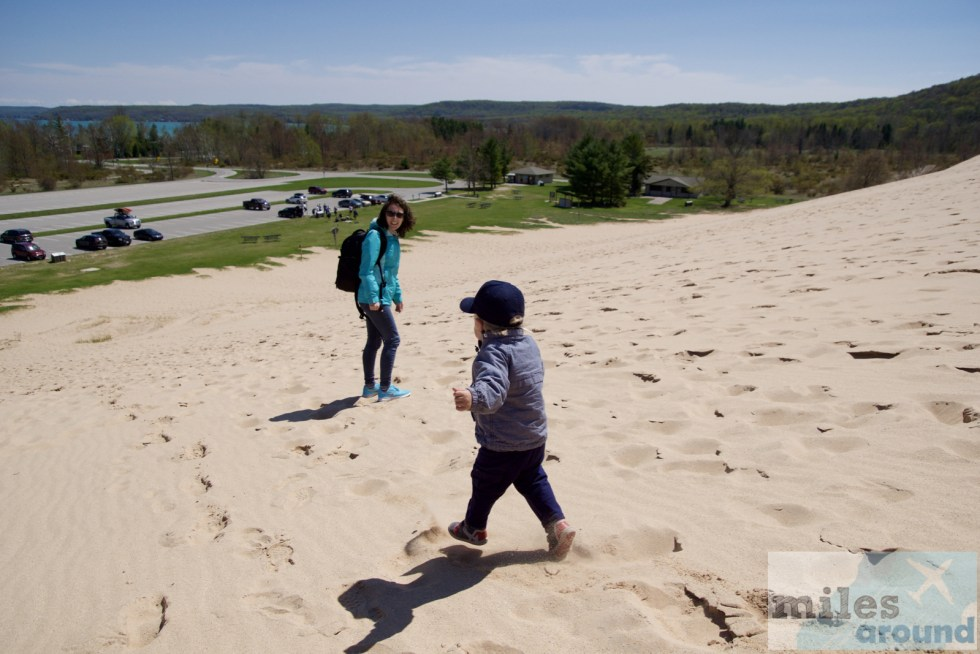Family fun in the Sleeping Bear Dunes
