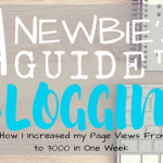 The Newbie's Guide to Blogging and How I Increased My Page Views From 97 to 3000 in One Week
