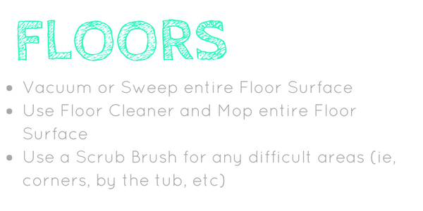Spring Cleaning your bathroom floors
