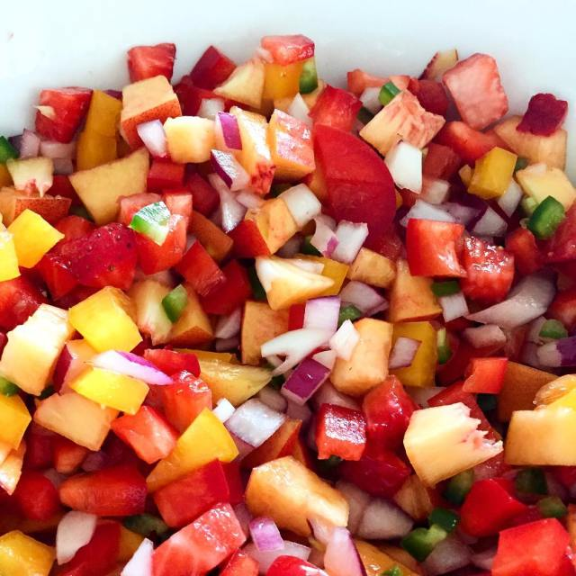 Nothing says summer quite like a homemade strawberry peach salsa!hellip