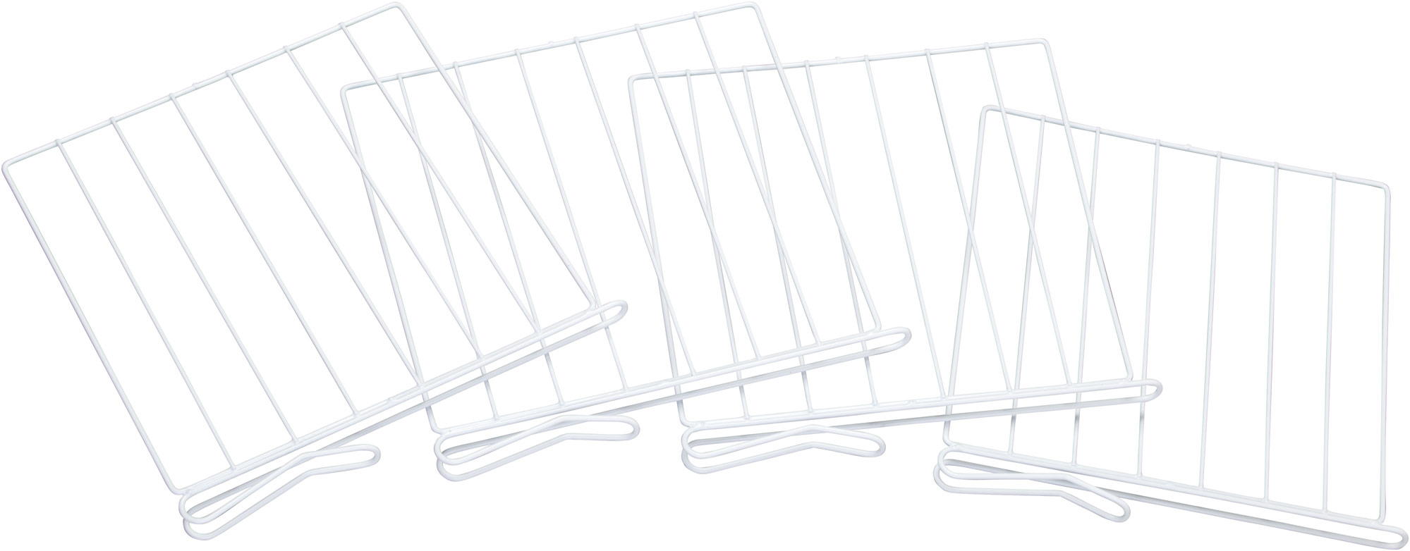 Miles Kimball White Wire Closet Shelf Dividers Set Of 4