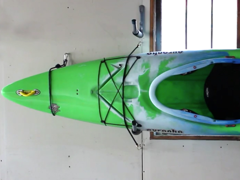 Homemade and Affordable Kayak Garage Rack Video