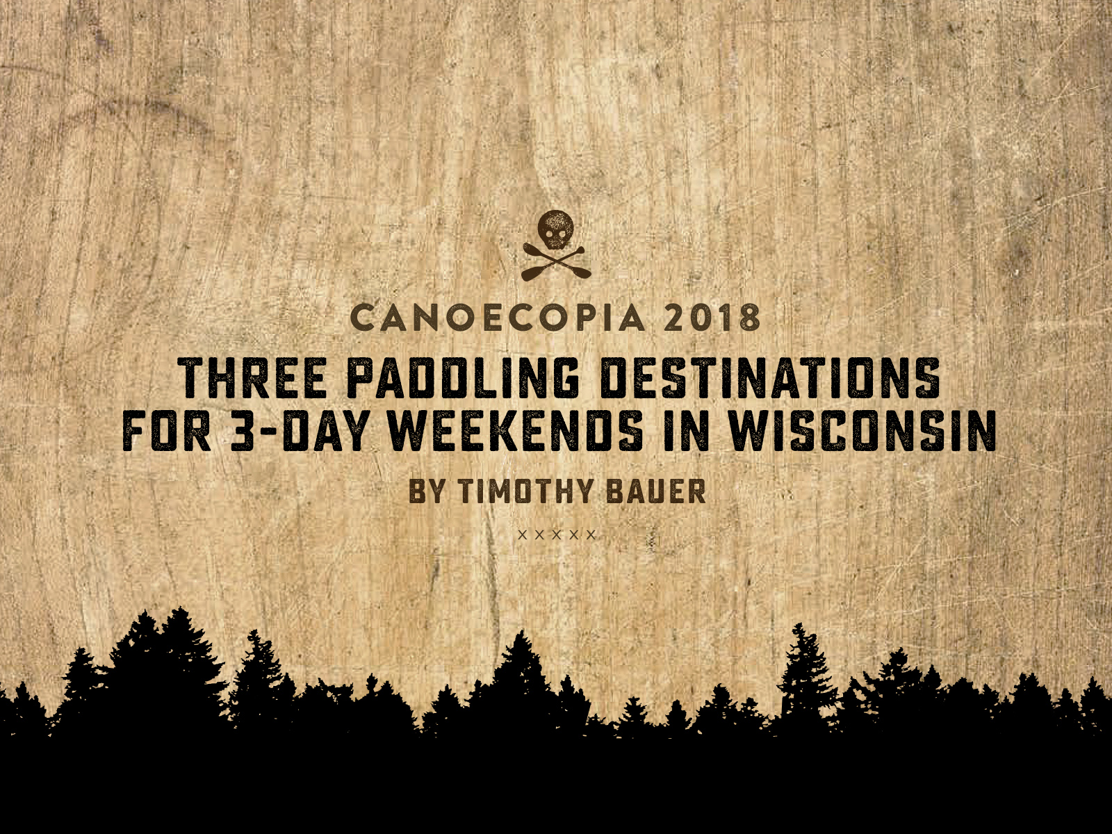 Timothy Bauer at Canoecopia 2018