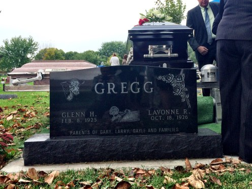 The Gregg tombstone.