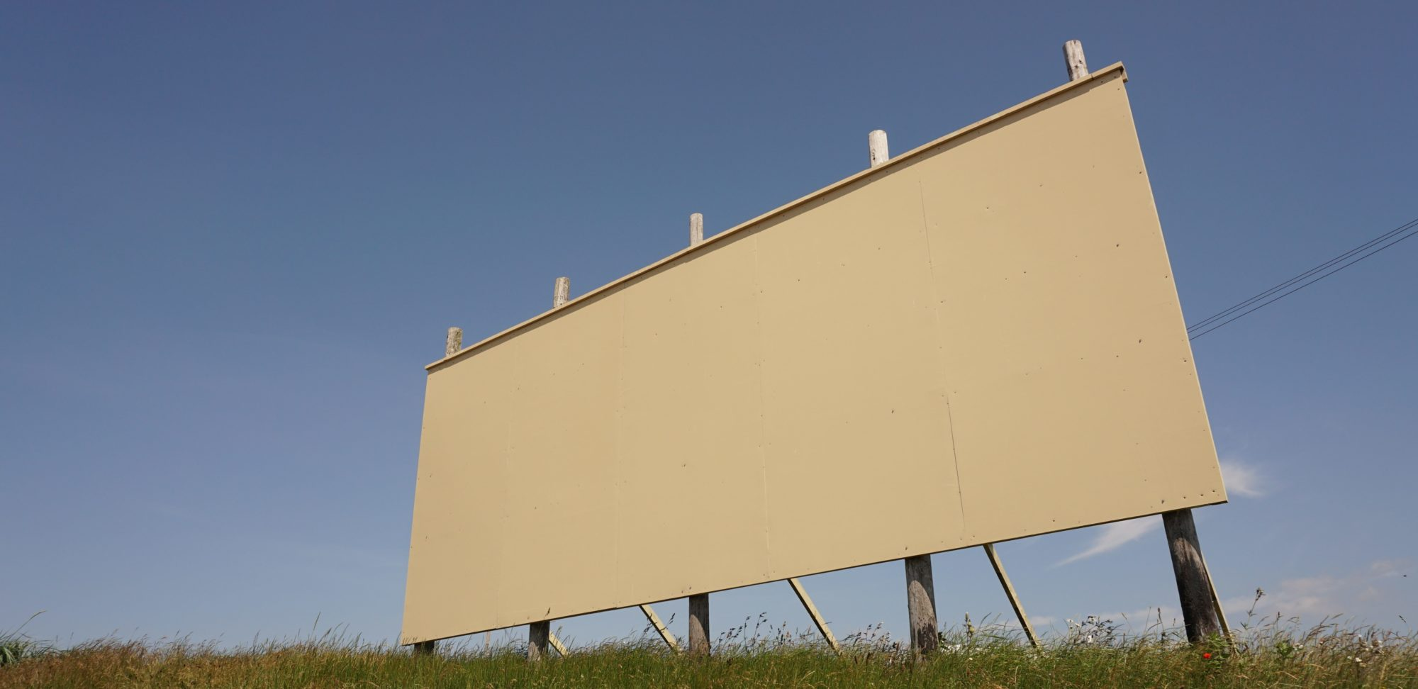 A blank billboard in Southport, UK