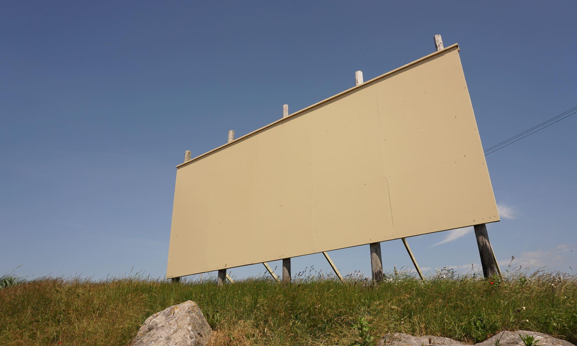 A blank billboard in Southport, UK