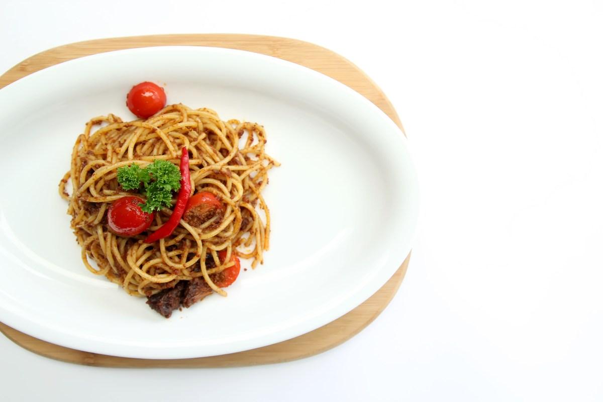 beef rendang curry pasta spagetti medan