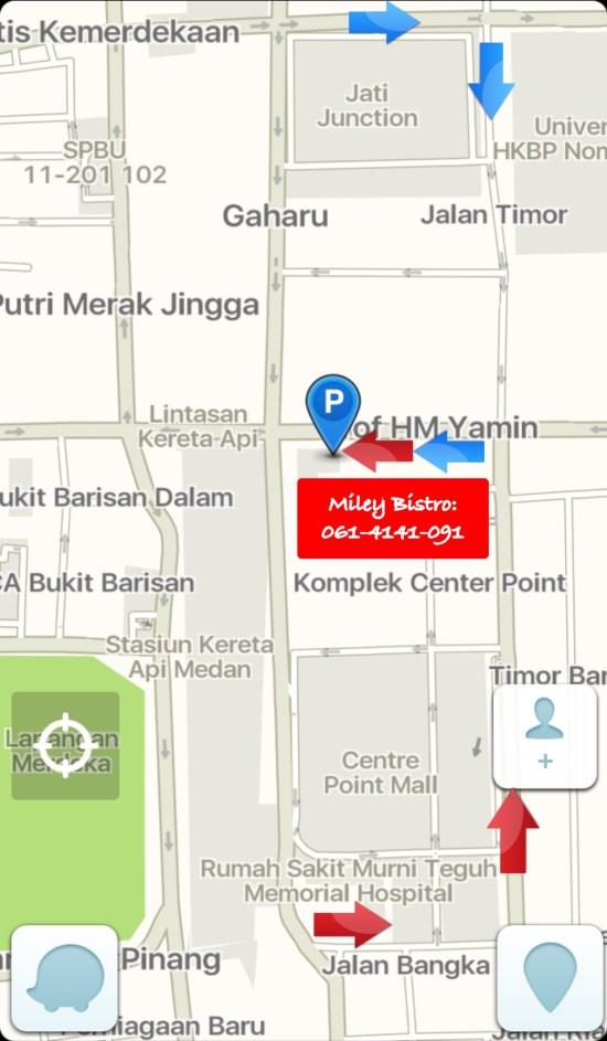 map miley bistro medan