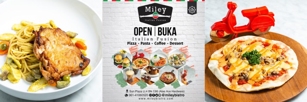 miley italian food pizza medan