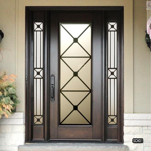 Miliano Design Ltd Sealed Door Inserts Wrought Iron