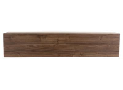 element mural tv horizontal finition bois fonce eternel