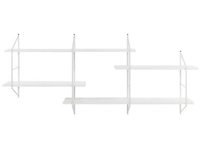 etagere murale xl bois blanc et metal bridge