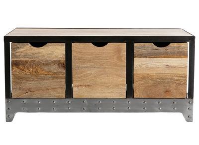 meuble rangement industriel en manguier massif et metal atelier