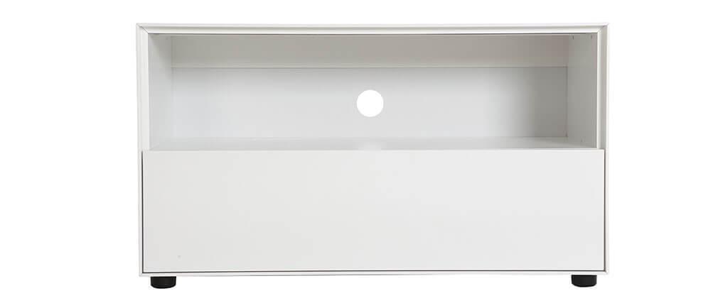 meuble tv design 90cm blanc mat 1