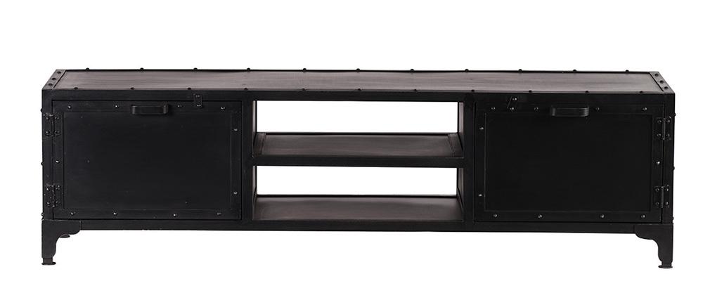 meuble tv design metal noir 150cm
