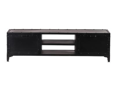 meuble tv design metal noir 150cm factory
