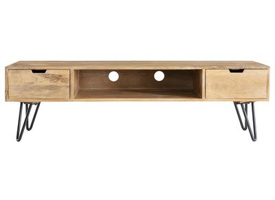 meuble tv en manguier massif et metal vibes
