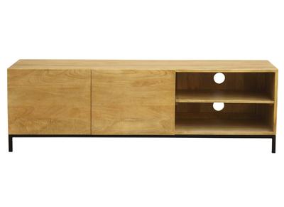 meuble tv industriel manguier massif et metal ypster