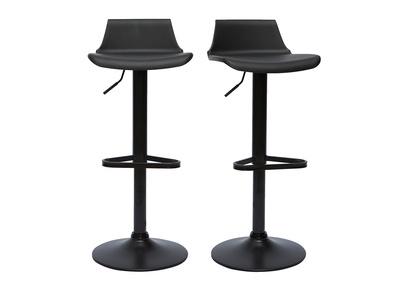 tabourets de bar design noirs lot de 2 kronos