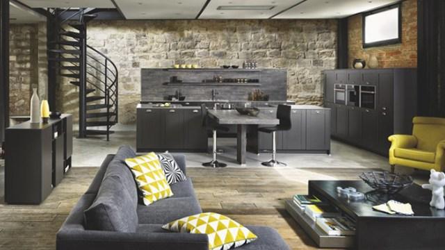Schmidt siyah mutfak