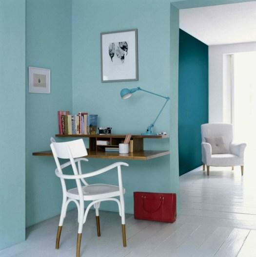 Color Azul Petróleo combinado con azul en paredes