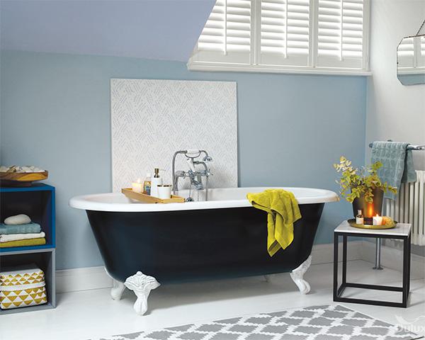 Feng Shui banyosu için renkler: Mavi