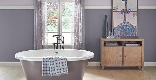 Feng Shui banyosu için renkler: Leylak ve menekşe