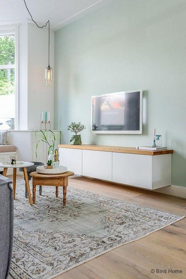 Oturma odası için Feng Shui renkleri: Nane - Nane - Nane yeşili