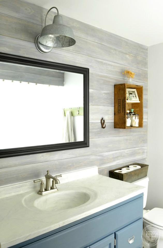 Çağdaş bir rustik banyo