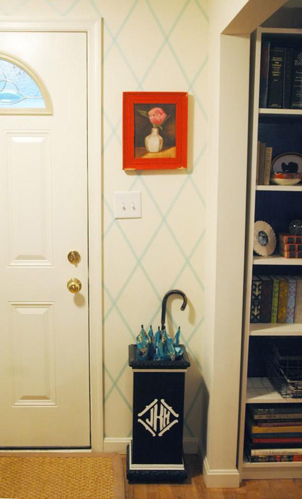 Evden çıkmadan ücretsiz wahsi bandı ile süslenmiş duvar