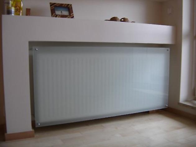 Asit cam ekranlı bir radyatörü kamufle etme fikri