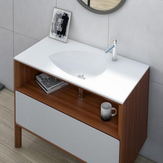 Lavabo de diseño moderno encastrado ameliplus