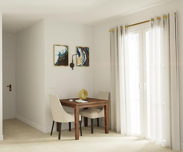 Büyüleyici küçük yemek odası tasarımı