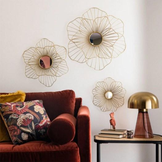 Espejos decorativos para colgar en las paredes