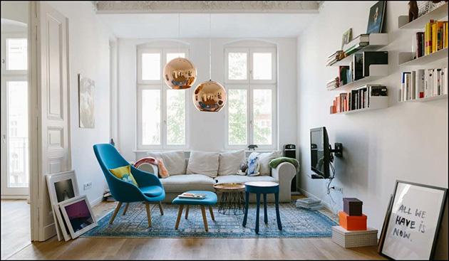 Tarz dolu küçük bir oda
